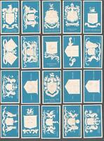 1900 Dexter's Cigarettes Borough Arms Tobacco Cards Complete Set of 30