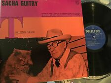 Sacha Guitry LP T Collection Theatre Philips B77.972L Canadian Press spoken word