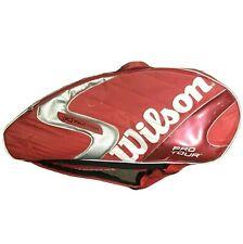 WILSON PRO TOUR TWELVE TENNIS & SQUASH RACKET THERMO BAG - RED & WHITE RRP £120