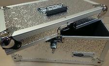 """7"""" Singles Vinyl Record Aluminium DJ Flight Carry Case Silver 200 Tough Strong"""