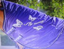 PFIFF Fliegen-Halsteil mit Schmetterlingsprint, blau,Warmblut Full, Art.102143