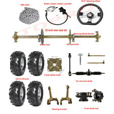 "32/"" Rear Live Axle Kit Brake Caliper Steering System Chain ATV QUAD GoKart"