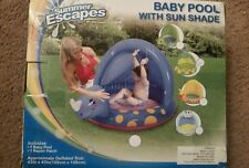 Alligator Baby Splash Pool With Sun Shade By Summer Escapes Summer Fun