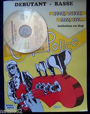 ) méthode COUP DE POUCE débutant basse rock blues jazz initiation slap, avec CD
