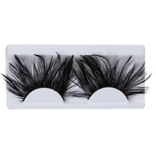1 Pair False Eyelashes Eye Lashes Makeup Exaggeration Feather Soft Extension Black