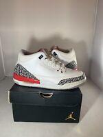 Air Jordan 3 III Retro Katrina White Fire Red Cement 398614-116 SZ 6.5 Authentic