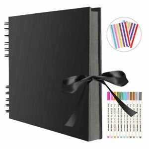 Photo Albums 80 Black Pages Memory Books A4 Craft Scrapbooking Gift Eco-friendly
