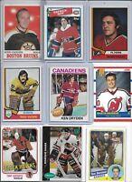 Vintage Greatest NHL Goalies HOF Lot of (17) Dryden Parent Cheevers Roy  BV$128