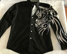 BLACK AND WHITE TRIBAL SHIRT SIZE XXL