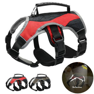Reflective No Pull Dog Harness with Handle Mesh Working Vest Medium Large Dogs