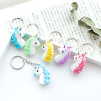 Cute Silicone Unicorn Keyring Girls Key Ring Bag Pendant Keychain Gift Random