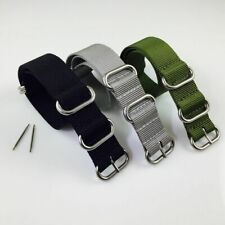 PACK OF 3 Ballistic Army Military Nylon 5 Ring Watch Band Strap Steel Buckle