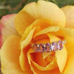 Rare Natural Purple Sapphire Gold Ring Genuine Band Trendy Ring Valentine