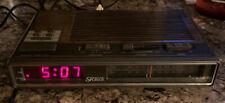 Vintage Sears AM/FM Electronic Alarm Clock Radio Red LED SR Series Tested Works!
