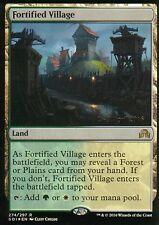Fortified Village FOIL | NM | prima della release PROMO | Magic MTG