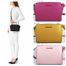 Michael Kors Selma Medium Messenger Saffiano Leather Crossbody Bag