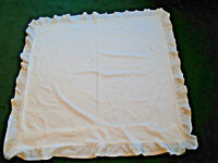 Vintage French Eiderdown Cover White Frilled Cotton