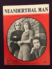 """More details for original 1970 uk sheet music - """"neanderthal man"""" hotlegs (soon to be 10cc)"""
