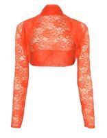 Womens Cropped Lace Shrug Ladies Bolero Size UK 8 - 16