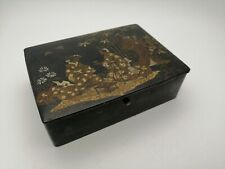 Antique Japanese Oriental lacquer jewelry box