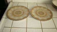Shalimar Masterpiece China by Franciscan Salad Plates Lot of 2 ~ Excellent