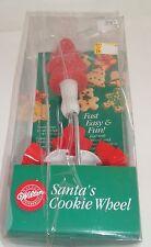 CHRISTMAS COOKIE CUTTER WHEEL -WILTON - 1992 SANTA'S COOKIE WHEEL