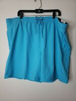George Men's Swim Trunks Size 3XL Blue with Blue Accents Drawstring New