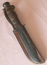 Vintage KA-BAR Large Bowie Style US Military Knife with Original Pouch