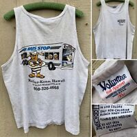 Vintage Da Bus Stop Diner Kailua-Kona Hawaii At Kona Maretplace Tank Top XL USA