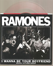 "RAMONES ""I Wanna Be Your Boyfriend"" 7"" Inch clear redVinyl Limited RSD 16 ltd"