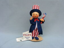 """7"""" ANNALEE PATRIOTIC BOY WITH FIRECRACKER - 984400 MADE IN USA - NEW - EXCLUSIVE"""