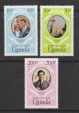 1981 Royal Wedding Charles & Diana MNH Stamp Set Uganda SG 341-343 PINK