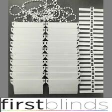 """REPLACEMENT 127mm (5"""") VERTICAL BLIND BOTTOM WEIGHTS REPAIR KIT SPARE PARTS.30pc"""