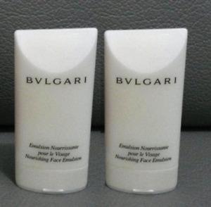2 x BVLGARI Nourishing Face Emulsion Moisturiser 30ml Travel Size - Brand New