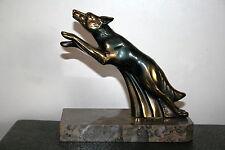 serre-livres régule art déco sculpture chien fonte d'art belle patine Franjou