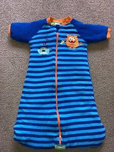 Size 00 (3-6 Months) Snugtime Boys Sleeping Bag Blue 3.0 Tog Winter