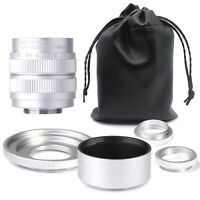 Fujian 35mm F1.7 CCTV TV cine  lens for Fujifilm FX mount X-Pro1 Camera SILVER