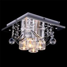 NEW Modern Crystal Rain Drop Chandelier Pendant Lamp Square Ceiling Evrosvet