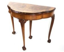 Antique Walnut Demi Lune Console Card Table - FREE Shipping [5655]
