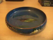 More details for old vintage longpark torquay studio art motto pottery ware kingfisher large bowl