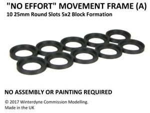 """""""No Effort"""" Movement Tray Frame (A), Suits Age of Sigmar, Warhammer, 25mm Round"""