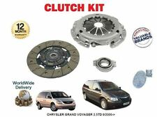 FOR CHRYSLER GRAND + VOYAGER  2.5TD RG ENJ ENC 2499cc 9/2000-> NEW CLUTCH KIT