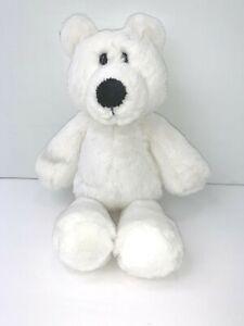 "Mary Meyer Plush Soft White Teddy Bear 9 1/2"""