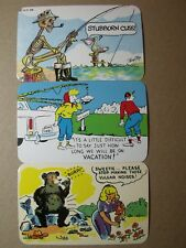 COMIC POSTCARDS VINTAGE  DEXTER PRESS C. 1950'S 1 IS SIGNED TONY ROY NOS