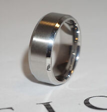New 8mm Stainless Steel Ring Man Women Band Silver Size 7