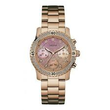 Nuevo Guess Confeti Chapado en Oro Rosa W0774L3 Reloj De Señoras