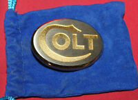 Colt Firearms Factory Mens Gold & Rhodium Dress Belt Buckle Mint in Bag