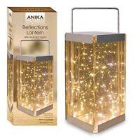 ANIKA 62190 REFLECTIONS LANTERN BATTERY OPERATED LED RICE LIGHTS, TRANSPARENT
