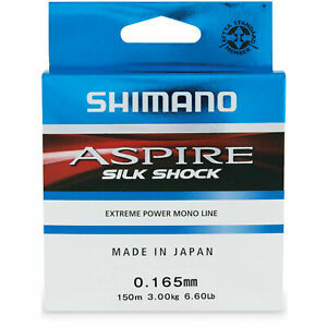 Shimano New Aspire Silk Shock 150m Fishing Line Monofilament