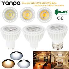 LED Dimmable COB Spotlight Bulb 15W E26 E27 GU10 MR16 12V 220V 110V Home Lamp SS